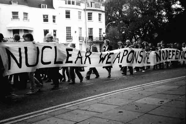 Anti nuclear weapons protest