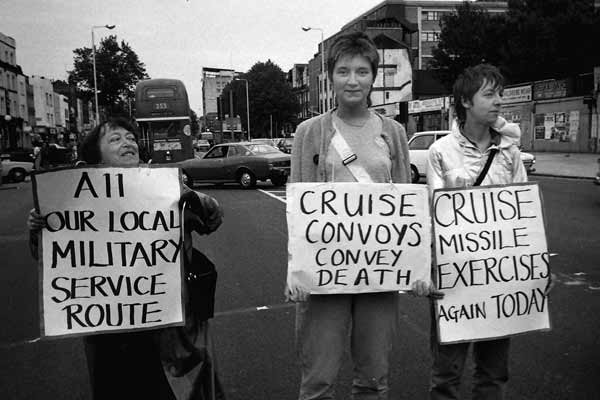 Cruise missile protest
