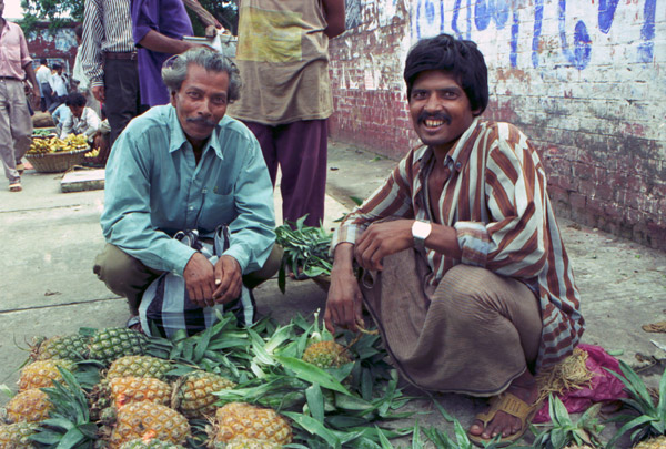 Pineapples for sale in Dhaka, 1994