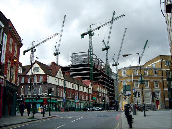 Cranes over Spitalfields market