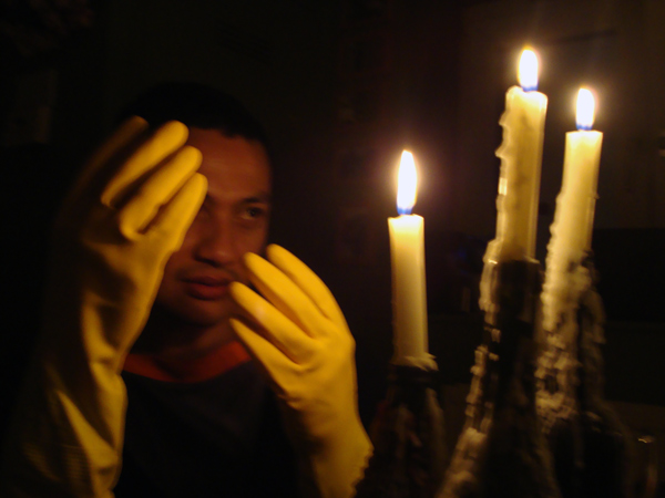 Portrait of Hazuan by candle light, 2010