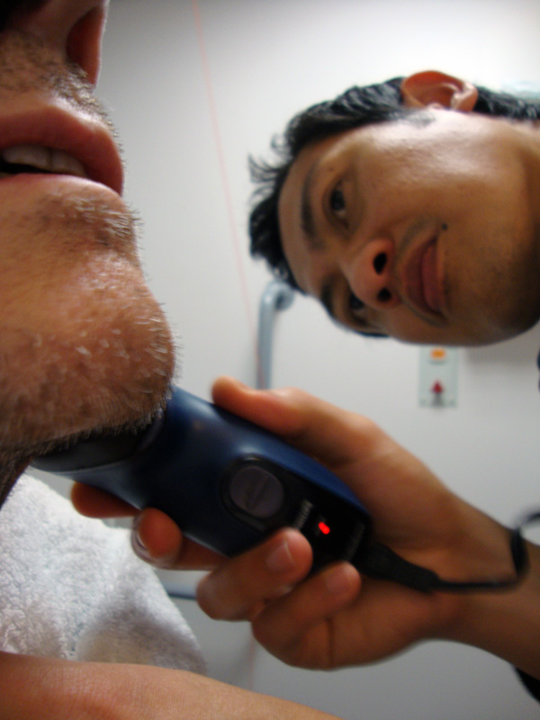 Being shaved by Hazuan