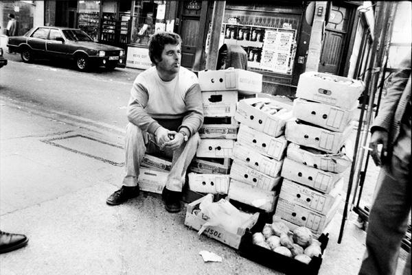 Selling vegetables on Brick Lane