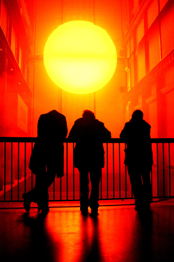 The sun in the Tate gallery