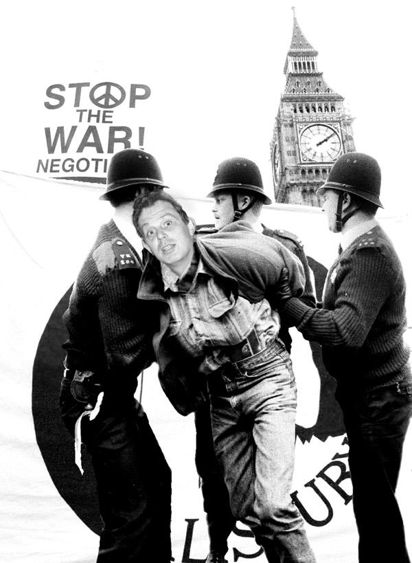 Arrest of Tony Blair. Photomontage 2003.