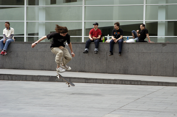 Skateboarding in Barcelona, 2005