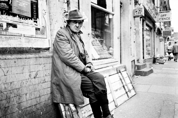 Man resting, Brick Lane 1986