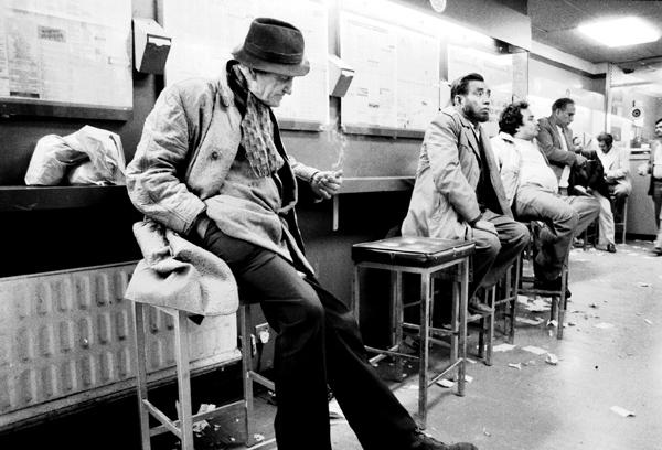 Betting shop, Whitechapel 1986