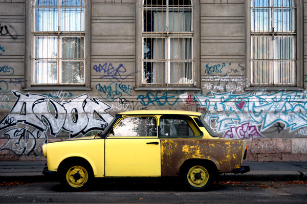 Car in Budapest, 2003
