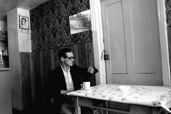 Having a cup of tea, Cheshire Street 1985
