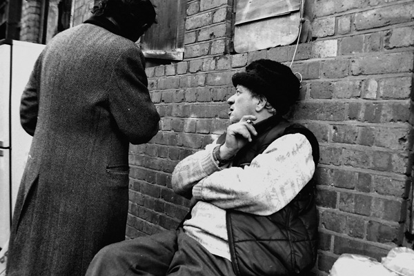 Man in Cheshire Street, 198