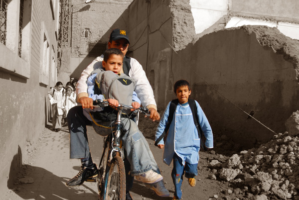 Boys on a bike in Marakech