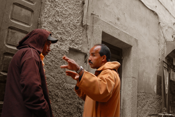 Men in conversation in Marakech