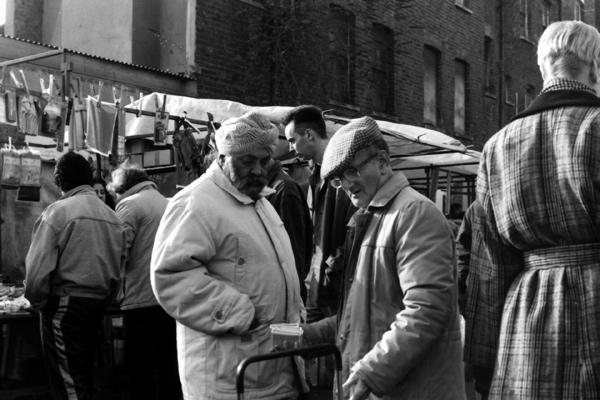 Two men in Sclater Street