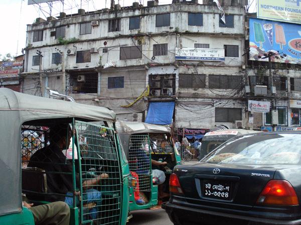 Traffic jam, Dhaka 2009