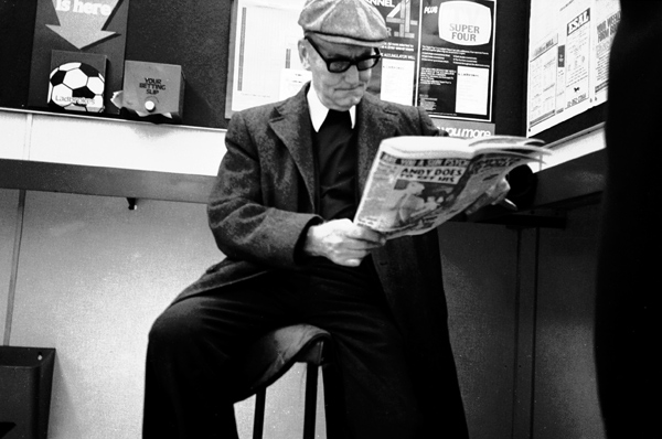 Man in Whitechapel betting shop