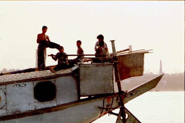 Boat on Buriganga river, Dhaka 1998