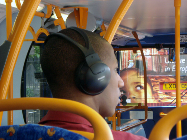Headphones on the 25 bus