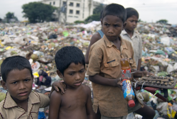 Children on a landfill site in Dhaka, Bangladesh 2008