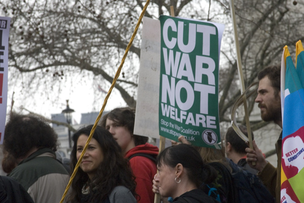 'Cut war not welfare'
