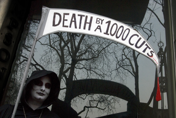 'Death by a thousand cuts'