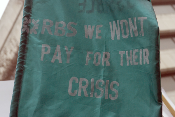 'We won't pay for their crisis'. TUC demonstration, March 2010
