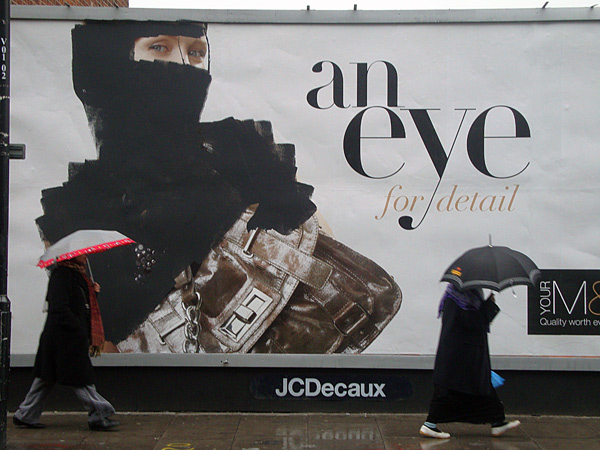 Defaced poster, Vallance Road, Whitechapel 2010