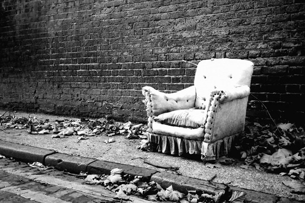 Chair on Brick Lane