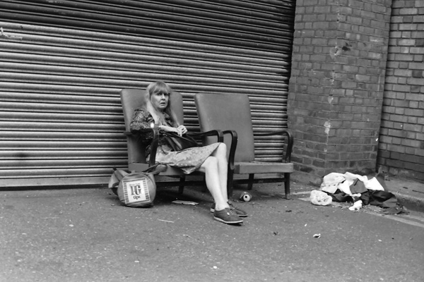 Two chairs on Brick Lane