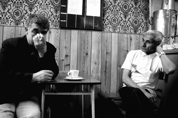 Two men in a Whitechapel Cafe, 1984