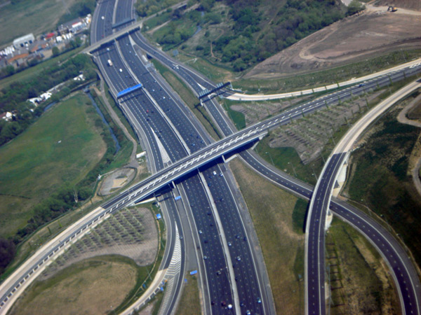 A motorway in the UK, 2010