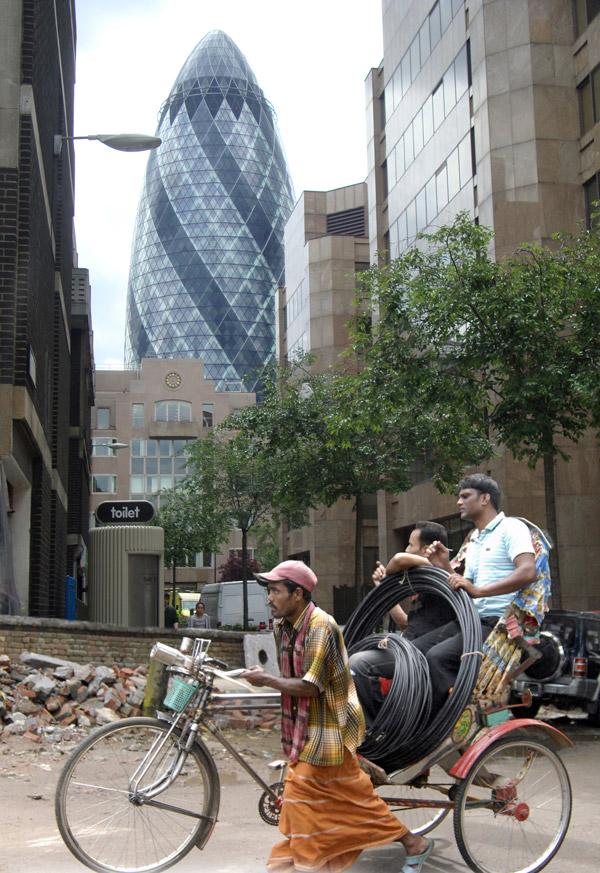 Rickshaw in the city