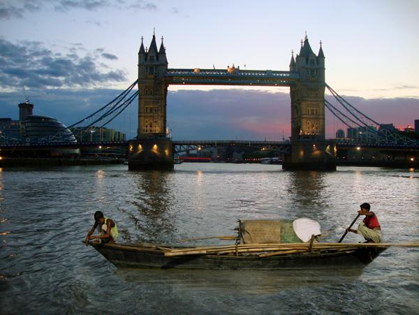Fishing by Tower Bridge