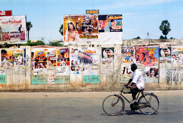 Man on bike. Chennai, India 1991