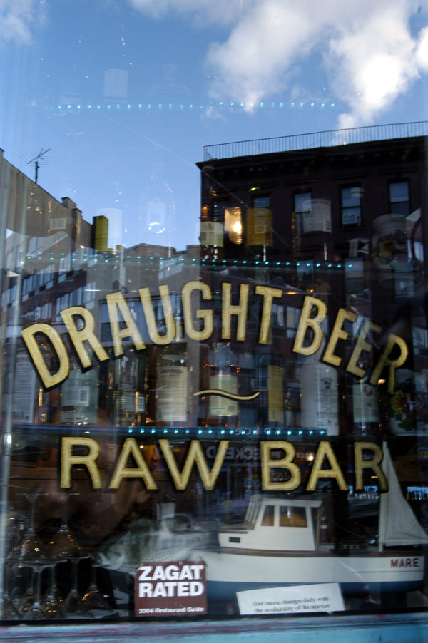 Bar with reflections, New York 2005