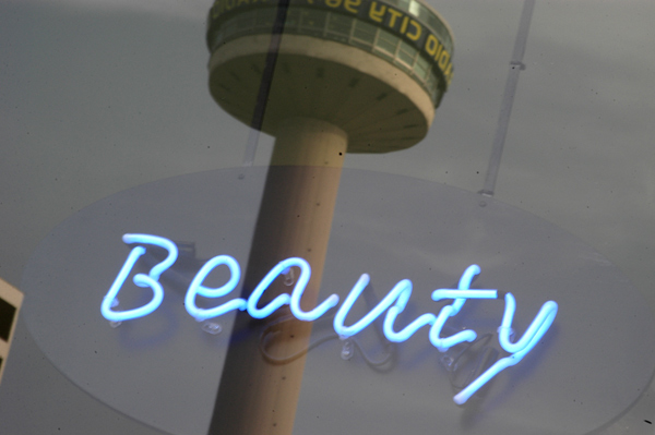 Radio City tower with reflected window, Liverpool 2005