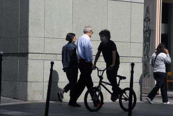 Boy on Bicycle, Paris 2010