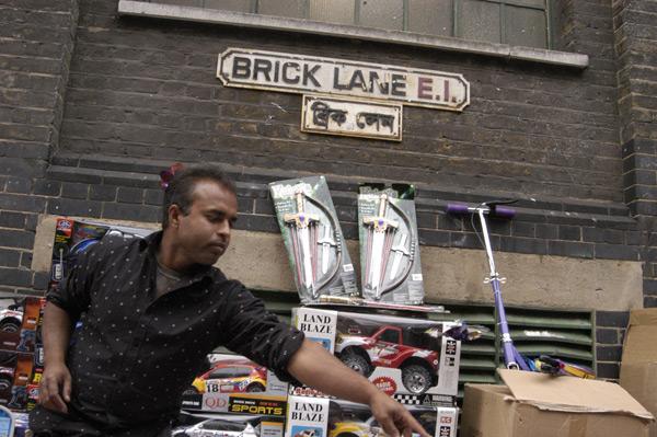 Toy seller, Brick Lane, 2009