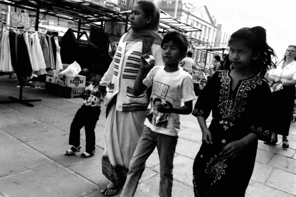 Whitechapel market, London 1985