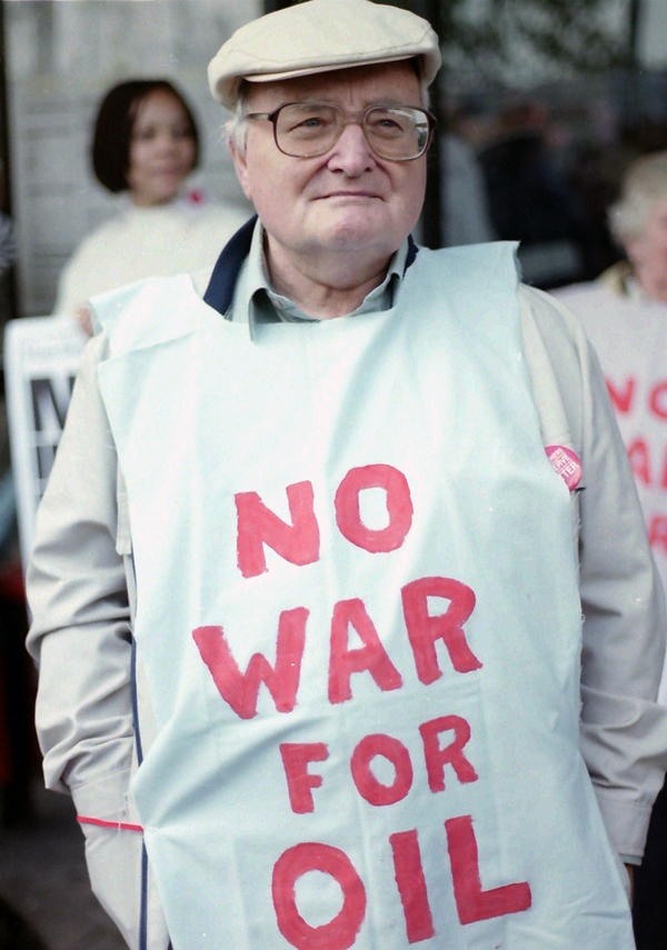 Protester against the war. London 1991