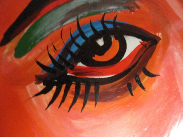 Painting of an eye on a rickshaw. Dhaka, Bangladesh 2008