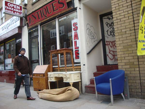 Antique shop on Brick Lane 2009