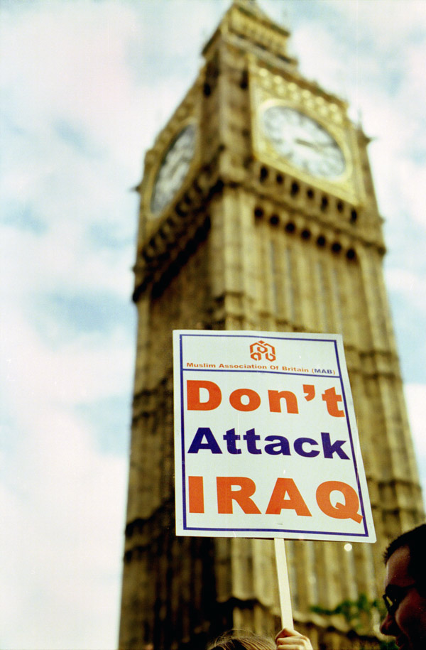 Don't attack Iraq. London.