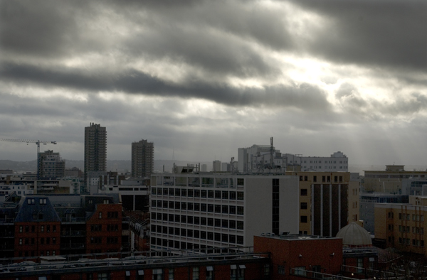 Looking south from Old Montague Street. Spitalfields, London 2011