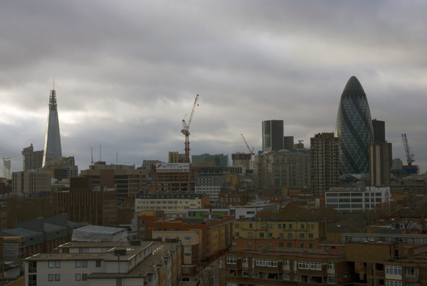 Looking west from Old Montague Street. Spitalfields, London 2011