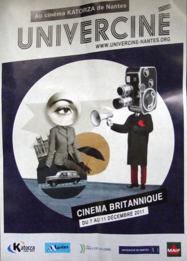 'Cinema Britanique' film festival poster. Nantes, France 2011