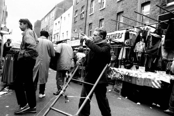 Market trader. Brick Lane, London 1987