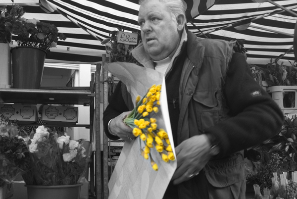 Columbia Road flower seller. London 2006