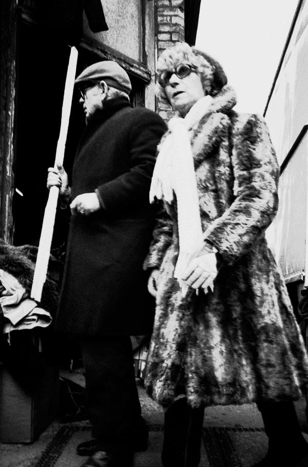Sam and his partner. Spitalfields 1986
