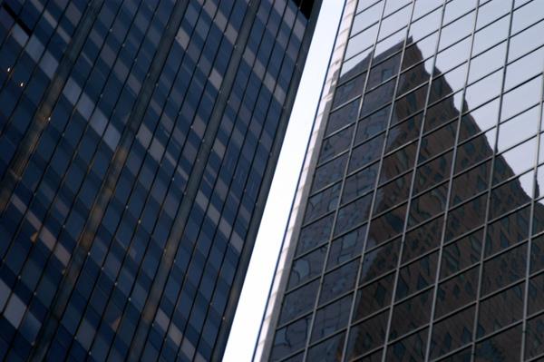 Sky scraper reflection. New York 2005